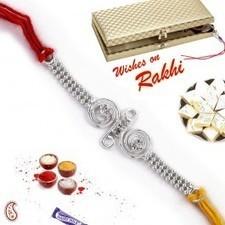 Beaded Chain Silver Rakhi in Premium Gift box   Rakhi Gifts to India, USA, UK, Canada, Australia   Scoop.it