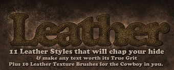 Suztv: Leather Styles and Brushes | Crazy 4 Photoshop | Scoop.it