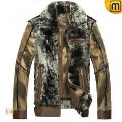 Leather Sheepskin Jacket for Men CW868004 | Men's | Scoop.it