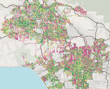 Map: L.A. street quality grades | HIT maps & mapping | Scoop.it