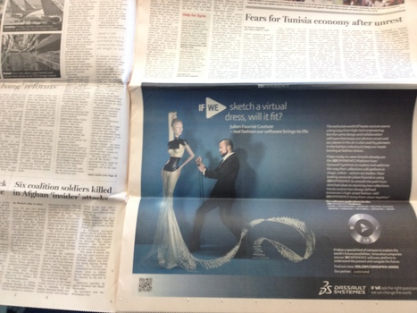 Julien Fournie and FashionLab ad displayed in Financial Times | CATIA V6 | Scoop.it