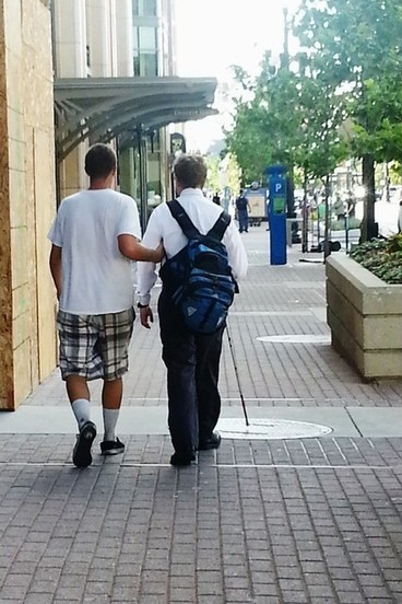 Panhandler saves blind man from danger - ksl.com | Our Collective Good | Scoop.it