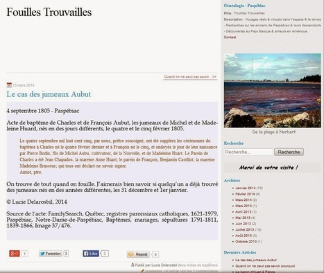 MAIORES NOSTRI: #feteinternet : un blog de généalogie, pourquoi ? | Auprès de nos Racines - Généalogie | Scoop.it