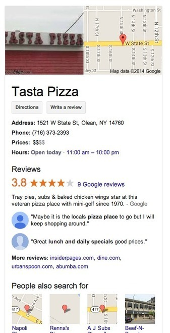 Google Now Displaying Full Review Snippets in the Knowledge Panel | GooglePlus Expertise | Scoop.it