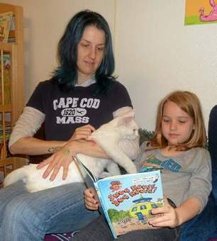 Curling up: With a good book at the animal shelter - The Willits News | Cats Meow | Scoop.it
