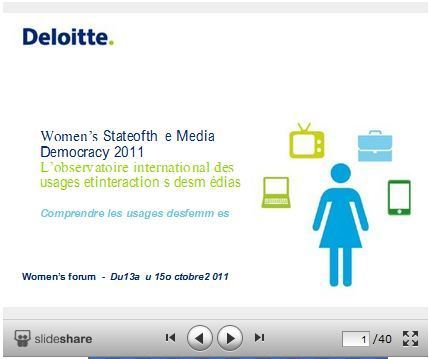 [Women's Forum] Etude Deloitte : Le comportement des femmes vis-à-vis des médias à travers le monde | Women's Forum for the Economy and Society | Scoop.it