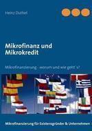 Mikrofinanz Und Mikrokredit: Heinz Duthel: 9783732241248: | Book Bestseller | Scoop.it