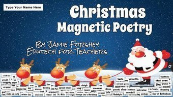 The 12 Digital Days of Christmas Tech Treasure #4: Christmas Magnetic Poetry | 21st Century Technology Integration | Scoop.it