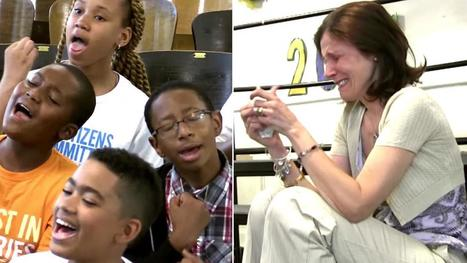 School Chorus Brings Cancer-Stricken Teacher to Tears with Tribute Song // PS 22 Staten Island, NY | Awesomeness | Scoop.it