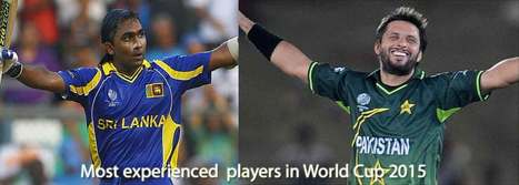 Jaywardhane and Afridi will become most experienced player for the World Cup 2015 | CricNow | ICC 2015 CWC | 2015 ICC World Cup Points Table, Latest News, Schedule & Live Scores | Scoop.it