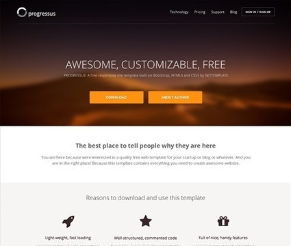 GetTemplate - Free HTML5/CSS3 Bootstrap templates | Veille de geek | Scoop.it