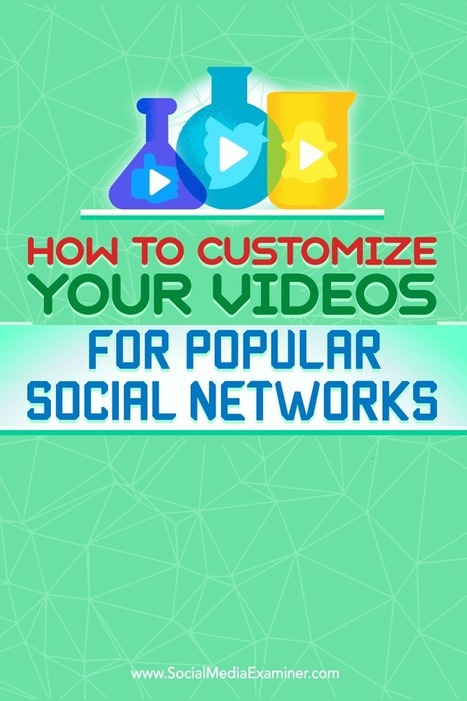 How to Customize Your Videos for Popular Social Networks  | Facebook for Business Marketing | Scoop.it