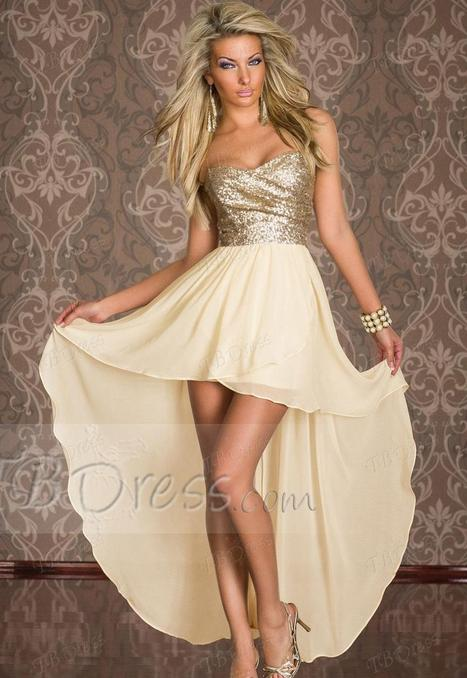 $ 32.49 Charming Boulevard Sequined Long Dress Beige Fashion Clubwear | Style | Scoop.it