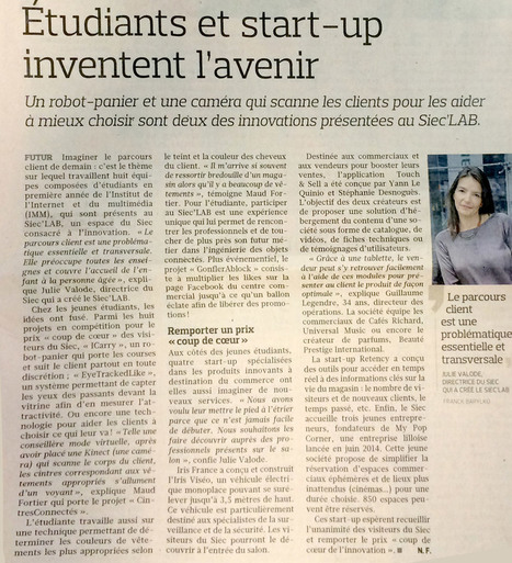 Touch & Sell » Le Figaro du 17/06 nous cite dans « Étudiants et start-up inventent l'avenir » | e-biz | Scoop.it