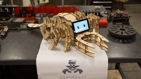Menacing walker teaches kids to build robots | Gizmag | Cultibotics | Scoop.it