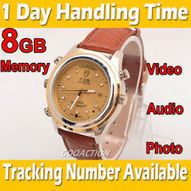 Cortical golden Fashion 8GB Spy Watch Video Recorder-Hidden Camera DVR Camcorder | videotechnik | Scoop.it