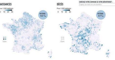 Explorez la France qui naît et la France qui meurt | Des liens en Hist-Géo | Scoop.it