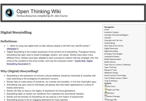 Open Thinking Wiki -  by Dr. Alec Couros - Digital Storytelling | Pedalogica: educación y TIC | Scoop.it