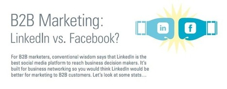 LinkedIn Vs Facebook: Who's The Best At B2B [Infographic] | Social Mind | Scoop.it