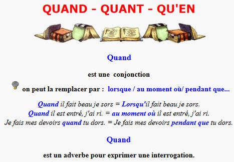 QuanD, quanT ou qu'en ? | POURQUOI PAS... EN FRANÇAIS ? | Scoop.it