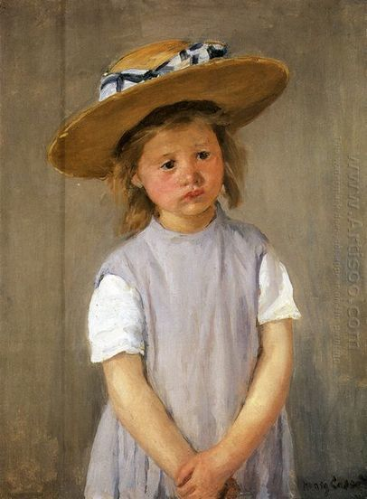 Oil painting reproduction: Mary Cassatt Child In A Straw Hat - Artisoo.com | arts&oil | Scoop.it