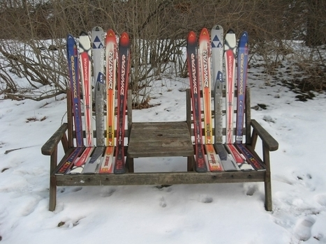 Reuse for Old Skis | Upcycled Objects | Scoop.it