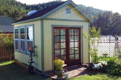 "Tuff Shed | Her ""Country French"" Garden Getaway 