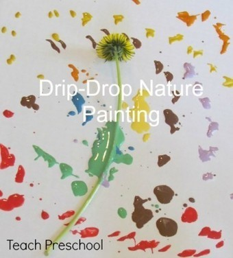 Drip-drop nature painting in preschool | Teach Preschool | Scoop.it
