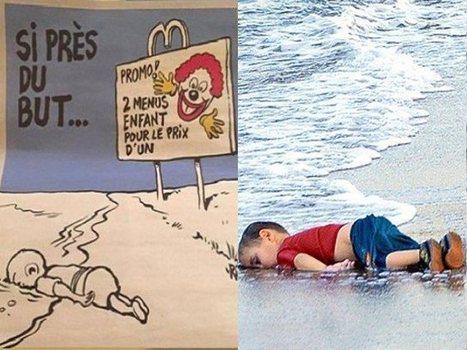 Aylan caricaturé dans « Charlie Hebdo » ou la liberté d'expression de bac à sable | EcritureS - WritingZ | Scoop.it