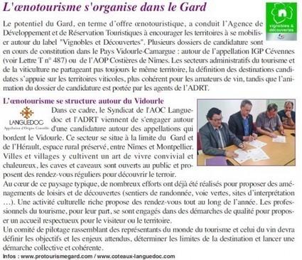 L'oenotourisme se structure autour du Vidourle | Oenotourisme | Scoop.it