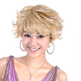 Top Grade Quality Capless Short Synthetic Blonde Curly Hair Wig – WigSuperDeal.com   African American Wigs   Scoop.it