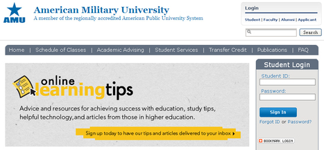 American Military University Login | saffian | Scoop.it
