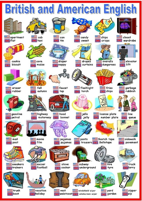 British vs American English | Resources_4_EFL | Scoop.it