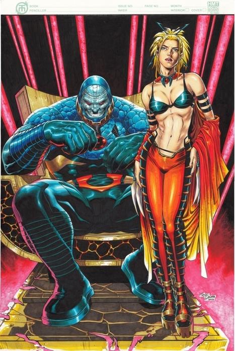 Darkseid & Evil Supergirl commission piece, in TirsoLlaneta's Tirso Llaneta's art Comic Art Gallery Room - 1195794 | Savvy Comics | Scoop.it