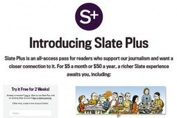 What Is Slate Premium? The Publisher's New Method For Monetization - 10,000 Words | Multimedia Journalism | Scoop.it