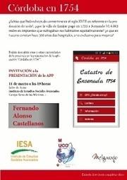 'Córdoba en 1754′, la app que muestra como era la provincia en el siglo XVIII | Enseñar Geografía e Historia en Secundaria | Scoop.it