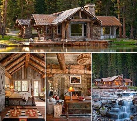 Twitter / EarthBeauties: The Headwaters Camp Cabin in ... | Montana Real Estate | Scoop.it