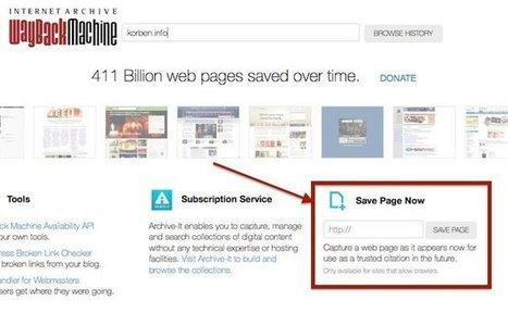 Archivez vous-même un site dans The Wayback Machine | Libertés Numériques | Scoop.it