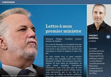 Lettre à mon premier ministre - La Presse+ | Centre François-Michelle | Scoop.it