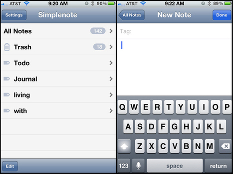 Simplenote: Beyond the Basics | iPhone.AppStorm | Scriveners' Trappings | Scoop.it