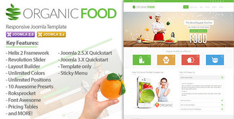 Organic Food – Responsive Joomla Template Download | RK Download | dani | Scoop.it