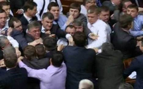 Ukrainian MPs in mass brawl after Russian is spoken in Parliament - Telegraph | worldnews-today | Scoop.it