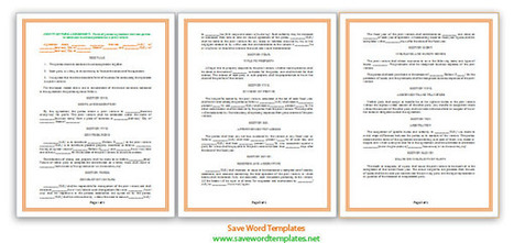 Joint Venture Agreement Template | Microsoft Word Templates | About some templates | Scoop.it