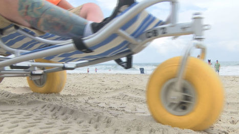 New wheelchairs make day at the beach more accessible | Accessible Tourism | Scoop.it
