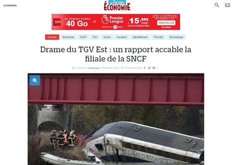 Accident de TGV : la filiale de la SNCF mise en cause - Rue89 Strasbourg | Alsace Actu | Scoop.it