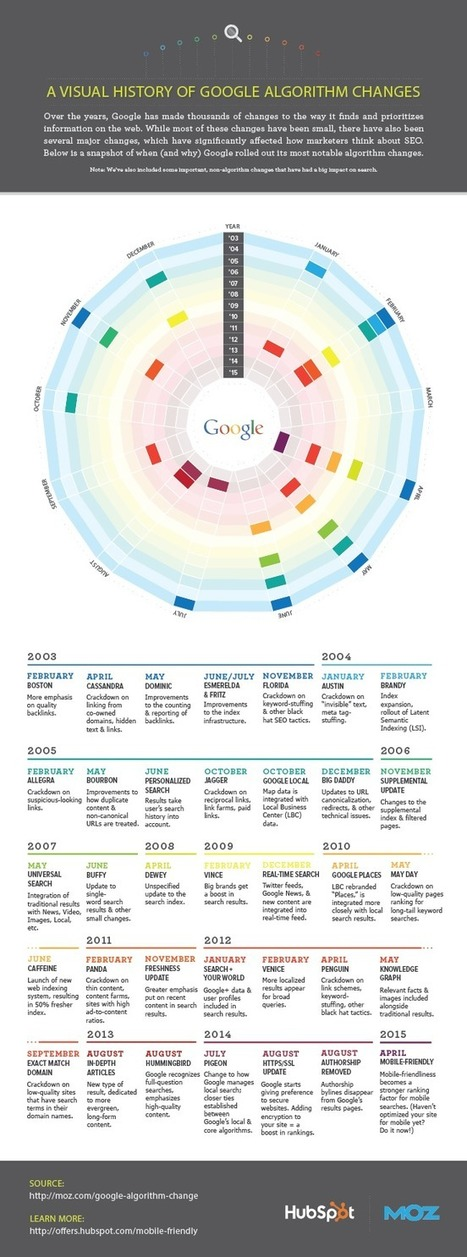 A Visual History of Google Algorithm Updates [Infographic] | Social Media Business News | Scoop.it