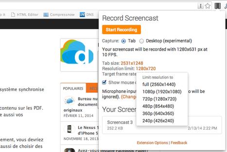 Créez des screencast avec Screencastify, une extension Chrome | Geeks | Scoop.it