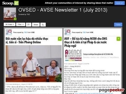 OVSED – AVSE Newsletter 1 (July 2013) | OVSED - AVSE Newsletter 2 (August 2013) | Scoop.it