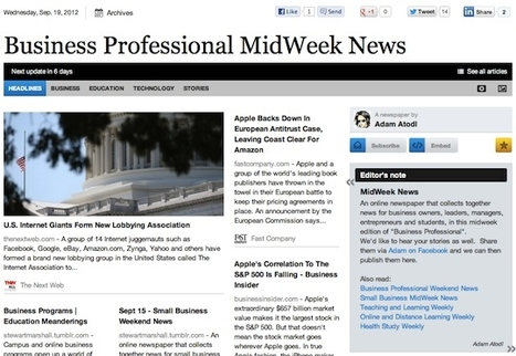 Sept 19 - Business Professional MidWeek News | Business Futures | Scoop.it