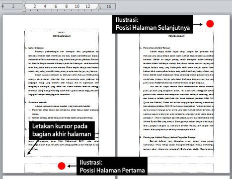Belajar Ms. Office: Cara Membuat Posisi Nomor Halaman Berbeda pada Word | Tekno Post | Scoop.it
